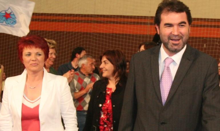 Anxo Quintana, Dominga Brión e Ana Álvarez