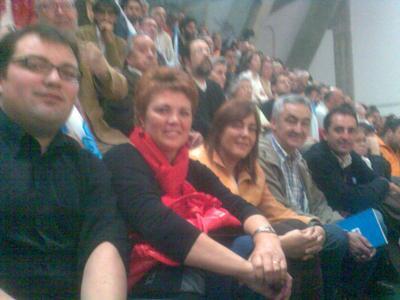 Luís Teira, Dominga Brión, Ana Álvarez, Xosé Luís Groveiro e Francisco Ayaso no 25 aniversario do BNG