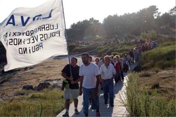 Manifestación 24 agosto en Aguiño