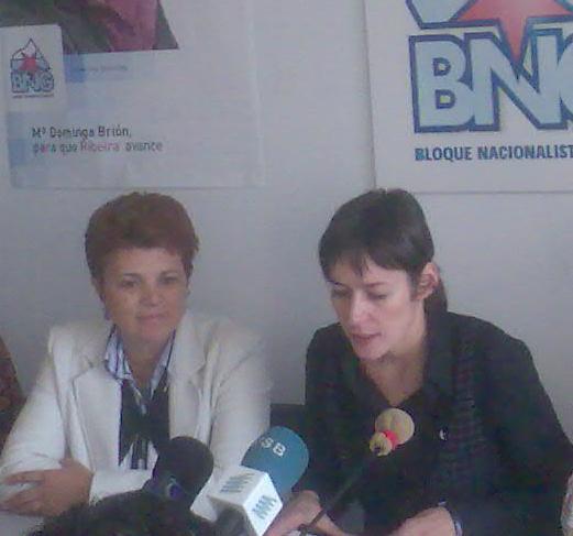 Ana Pontón e Dominga Brión en rolda de prensa