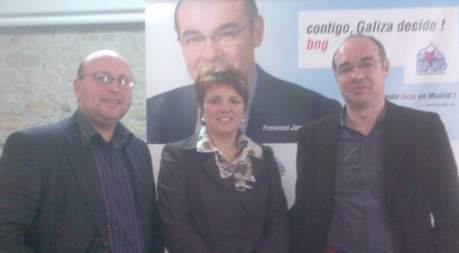 Adolfo Muiños, Dominga Brión e Francisco Jorquera