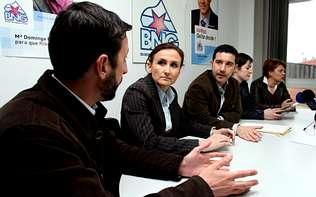Representantes do BNG con avogados/as da quenda de oficio