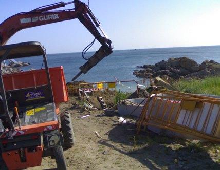 Obras a carón do Porto Fenicio de Aguiño, xuño 2008