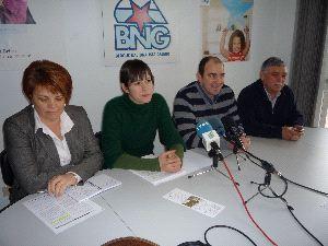 Dominga Brión, Ana Pontón, Manuel Casal e Xan León