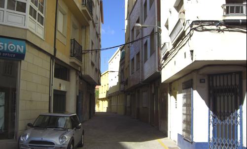 Estado actual da rúa Alexande Bóveda