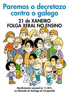Queremos Galego convoca unha folga xeral no ensino o 21 de xaneiro