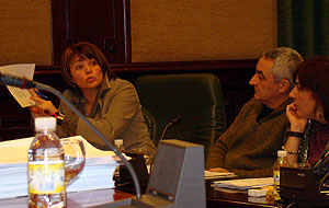 Dominga Brión, Xosé Luís Groveiro e Ana Álvarez no Pleno de decembro de 2010