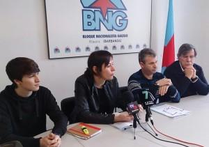 Luís Pérez Barral, Ana Pontón, Severino Romero e Xosé Deira. BNG Hospital Barbanza