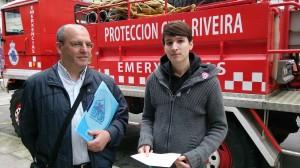 Ribeira. Xosé Antonio Vázquez Cobas, Luís Pérez Barral. Protección Civil