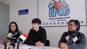 Raquel Suárez, Luís Pérez Barral, Cristina Andrade. BNG
