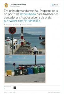 Contedores lixo Corrubedo Ribeira
