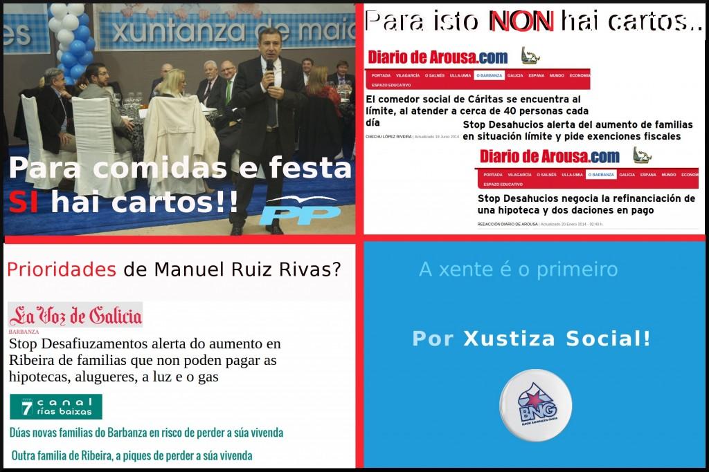 Electoralismo Alcalde Ribeira. Manuel Ruiz Rivas PP. BNG Ribeira
