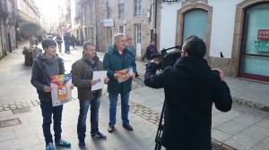 Pequeno comercio. Rúa de Galicia. Luís Pérez Barral, Severino Romero, Ramiro Ouviña. BNG Ribeira Barbanza