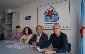 Luís Pérez Barral, Pilar Sampedro, Xosé Antonio Vázquez Cobas, Xosé Antón Parada. Concelleiros BNG Ribeira