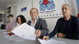 Luís Pérez Barral, Pilar Sampedro Laranga, Xosé Vázquez Cobas e Antón Parada Fernández. Concelleiros BNG Ribeira