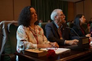 Pilar Sampedro Laranga e Xosé Antón Parada Fernández. Concelleiros BNG Ribeira