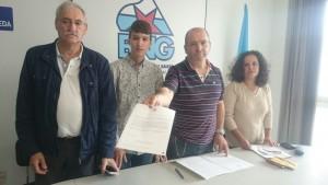 Edís Xosé Antón Parada, Luís Pérez Barral, Xosé A. Vázquez Cobas, Pilar Sampedro Laranga. BNG Ribeira
