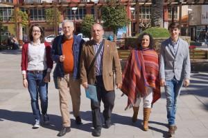 Elvira Blanco Pérez, Antón Parada Fernández, Xosé A. Vázquez Cobas, Pilar Sampedro Laranga e Luís Pérez Barral. BNG Ribeira