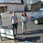 Luís Pérez Barral, Pilar Sampedro Laranga en Palmeira. BNG Ribeira. Foto Chechu López