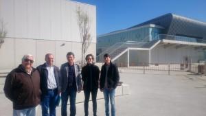 Xaquín Maño, Xosé Vázquez Cobas, Daniel Rodas, Elvira Blanco e Luís Pérez.Lonxa de Ribeira. BNG.