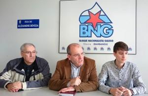 Comparecencia dos concelleiros Antón Parada, Xosé Vázquez Cobas, Luís Pérez Barral. BNG Ribeira