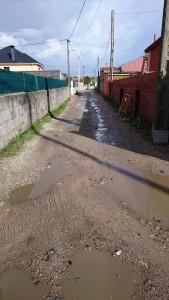 O BNG recolle as queixas da veciñanza de Aguiño ante unha obra