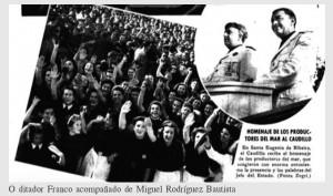 O ditador Franco acompañado de Miguel Rodríguez Bautista