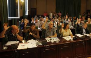 Grupo Municipal do BNG no Pleno Municipal Ribeira. Imaxe de arquivo. Fonte: La Voz de Galicia