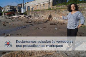 A concelleira Pilar Sampedro demanda melloras para as verteduras